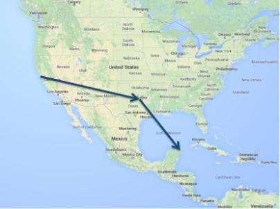 Flight route.