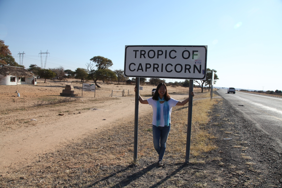 Gaborone, Tropic of Capricorn, and Serowe